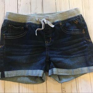 Justice Denim Shorts Size-14 Regular